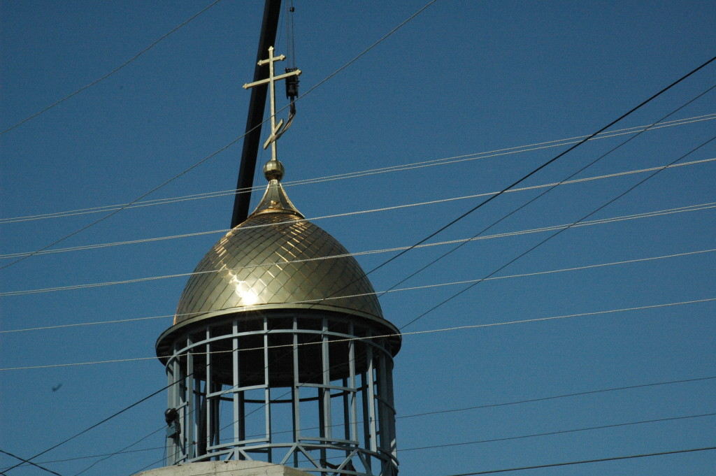 Освящение креста и купола